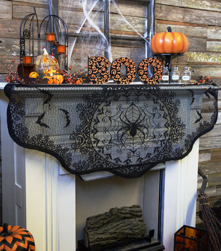 great halloween mantel decorating ideas - Great Halloween Decoration Ideas