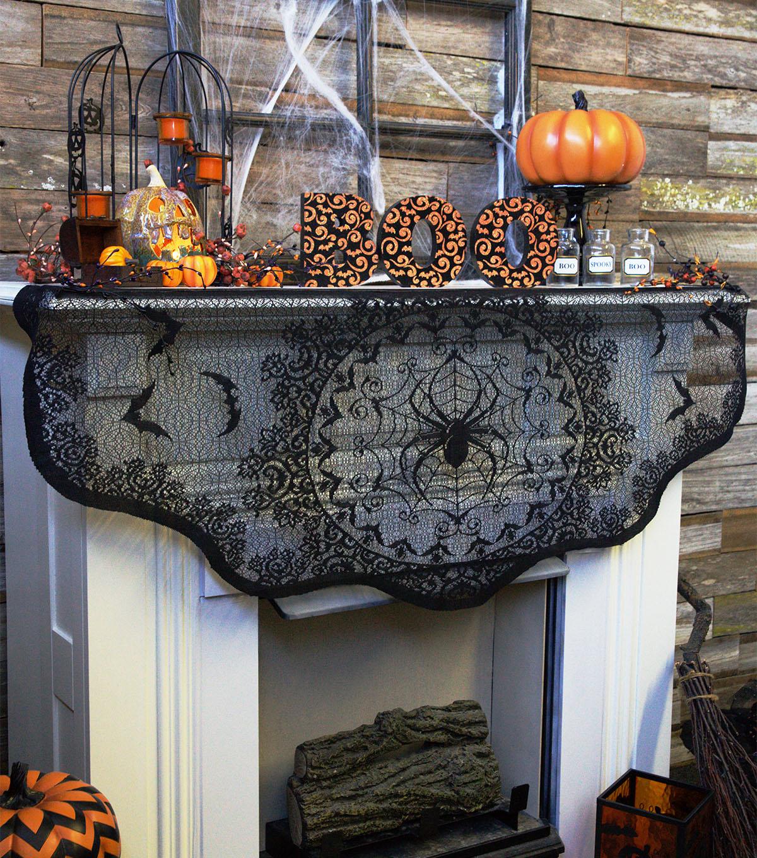 great halloween mantel decorating ideas