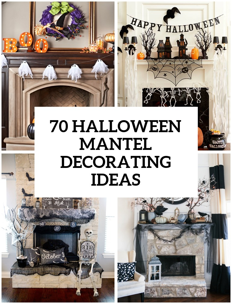 70 great halloween mantel decorating ideas digsdigs for Design decoration ideas