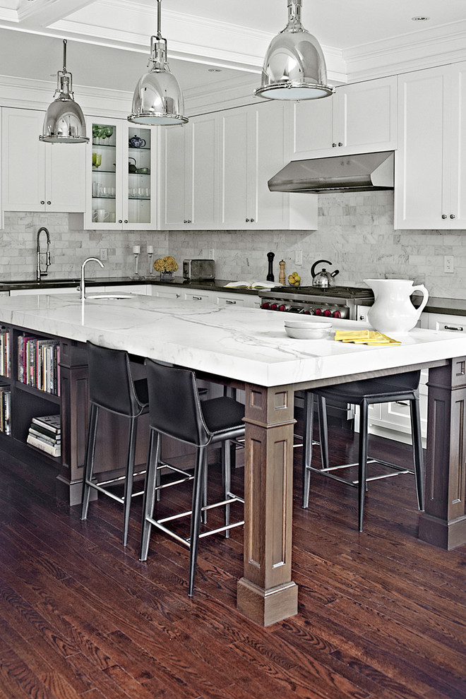 a kitchen island could easily provide dining space for four people 125 Awesome Kitchen Island Design Ideas  DigsDigs
