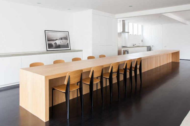this is probably the longest kitchen island in the world