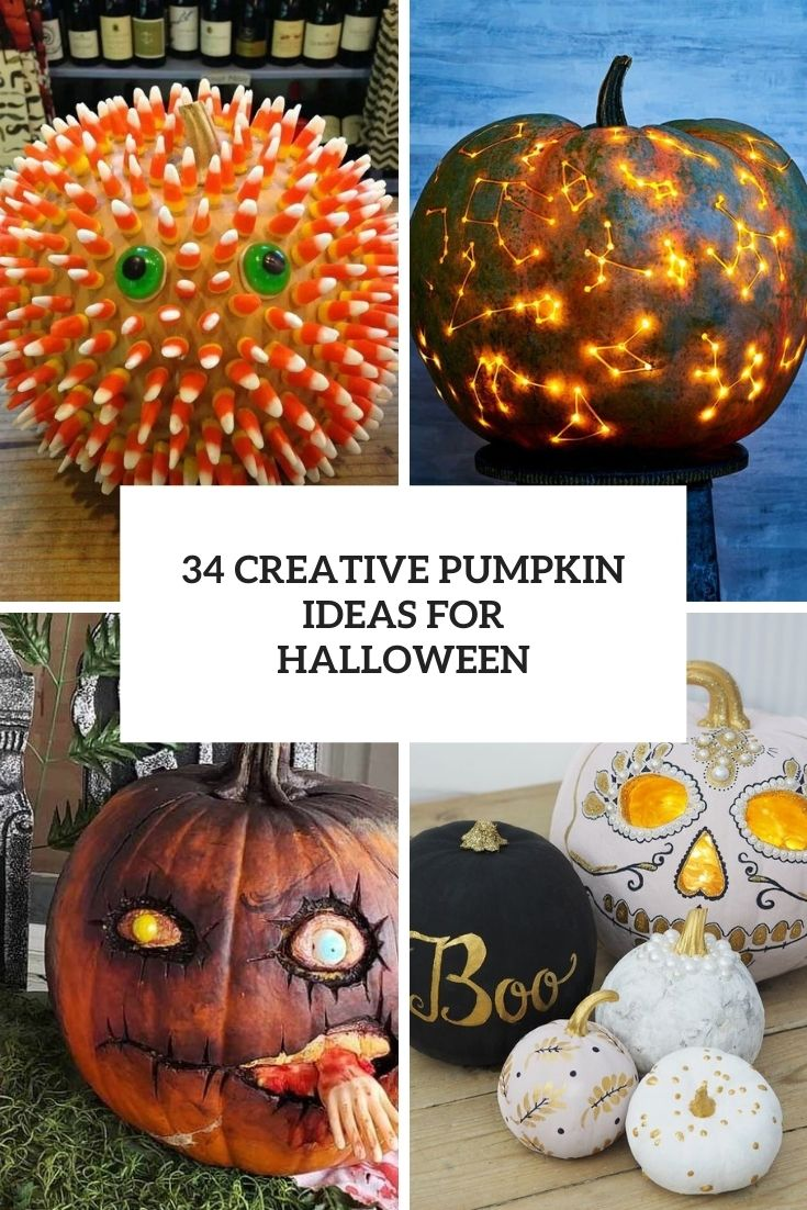34 Creative Pumpkins Ideas To Decorate Your Space For Halloween