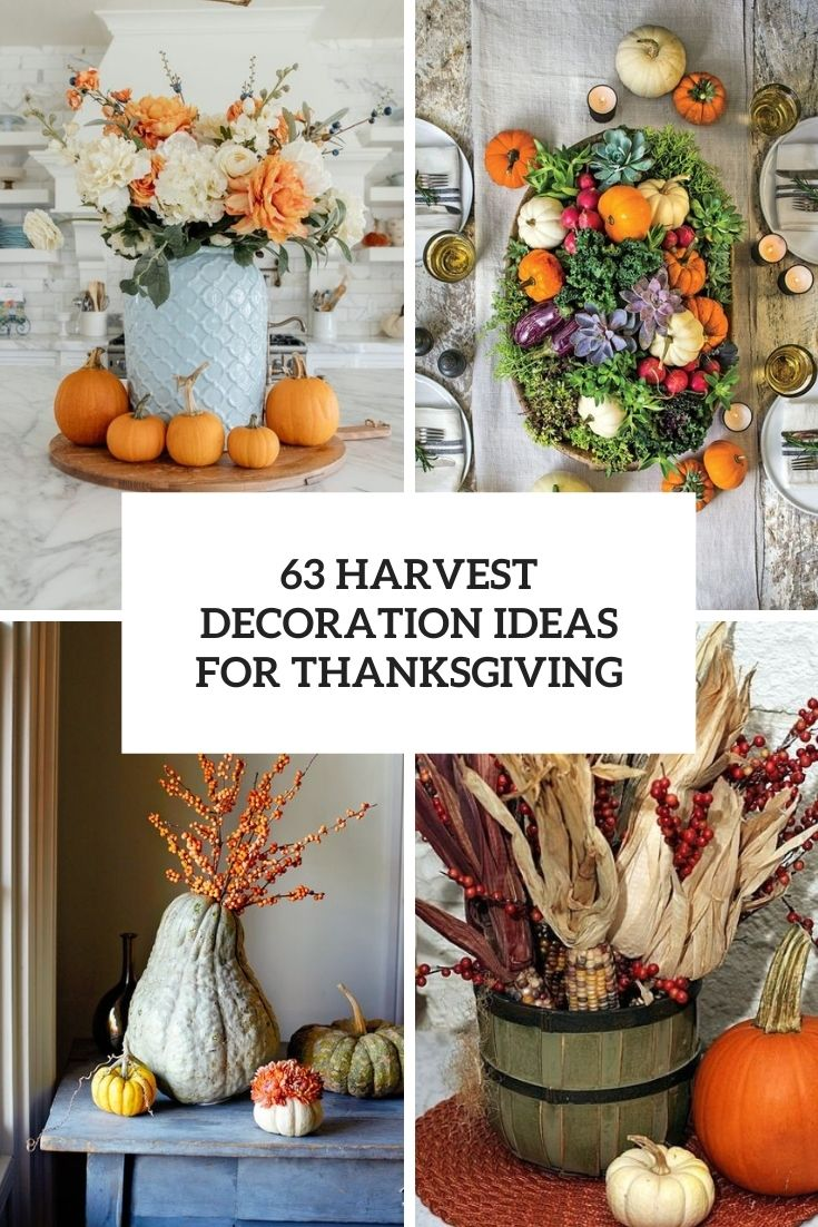 63 Harvest Decoration Ideas For Thanksgiving