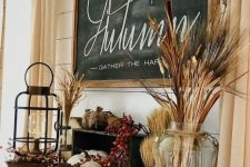 pumpkins, gourds, wheat, berries and blooms create chic and cozy rustic decor and will fit your Thanksgiving