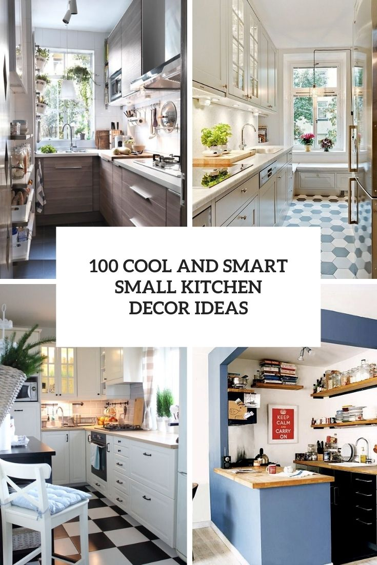 100 cool and smart small kitchen decor ideas cover