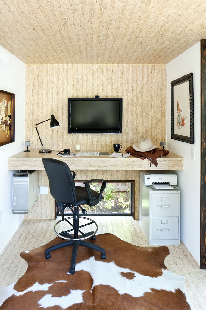 ... small home offices. Elevating things could make an interior looks quite  creative unique.