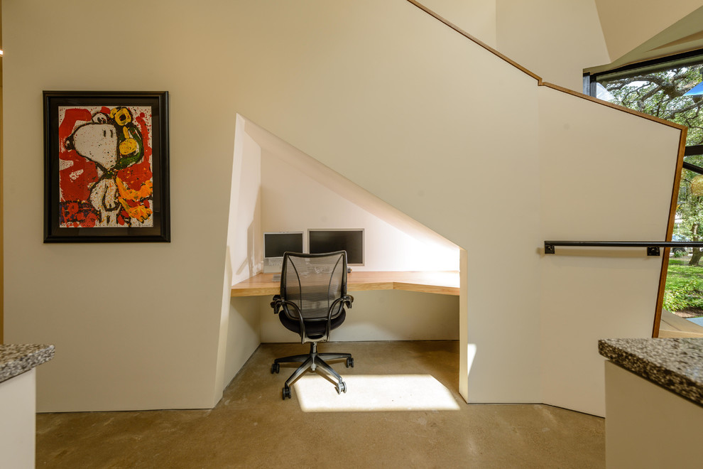 taking advantage of every bit of space mean you can tuck a small home office under - Small Home Furniture Ideas