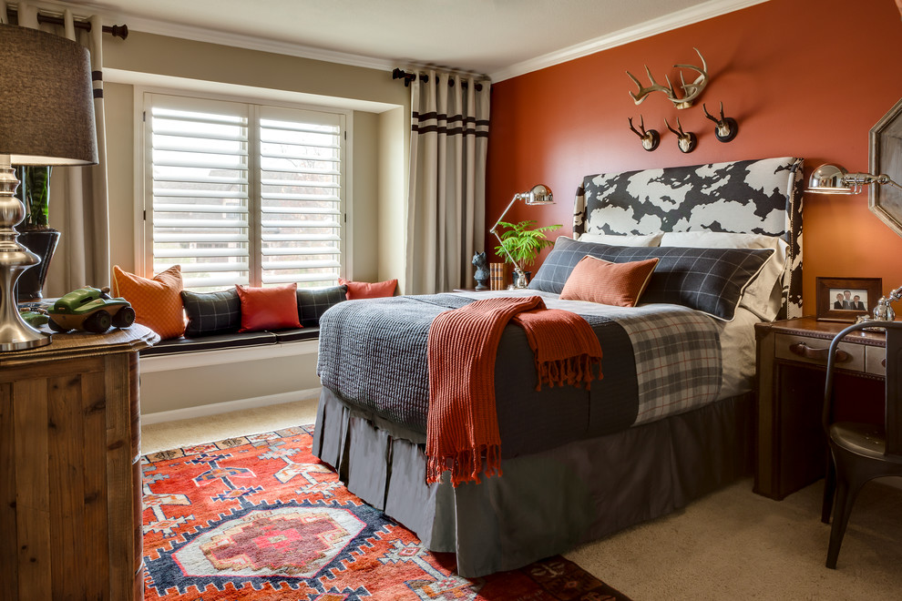 everything in this room starting with fabrics broadcast a vibe of adventure - Boy Bedroom Design Ideas