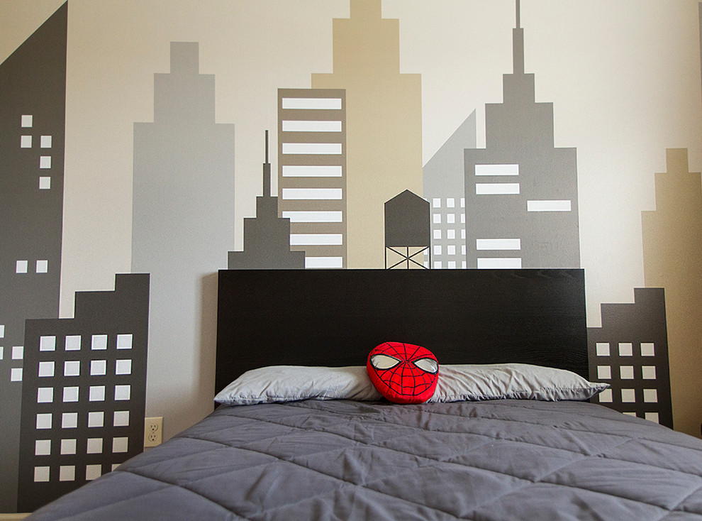 For those who search inspiration for a subtle spider man room design, here  is an