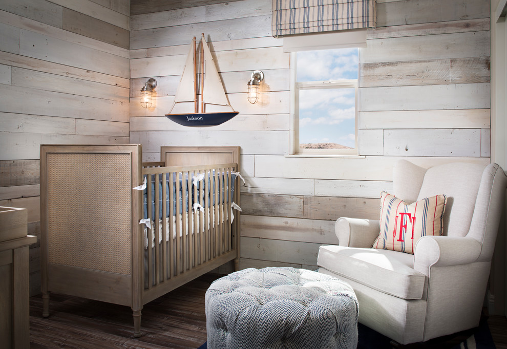 If accent walls aren't your thing then you can pull off a lovely design covering all wood with whitewashed planks.