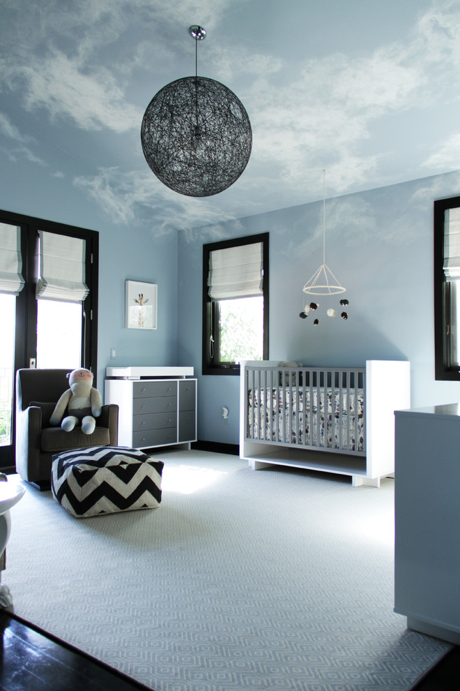 for a dramatic and dreamy look you could cover the ceiling with a cloudscape - Boys Room Design Ideas