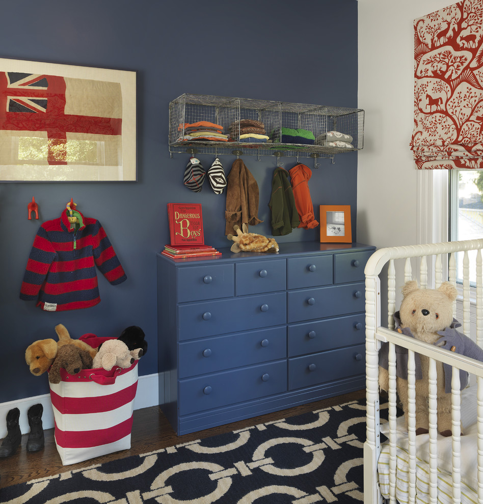 Deep blue is one of those colors would work good as for a teenage room as for a nursery.