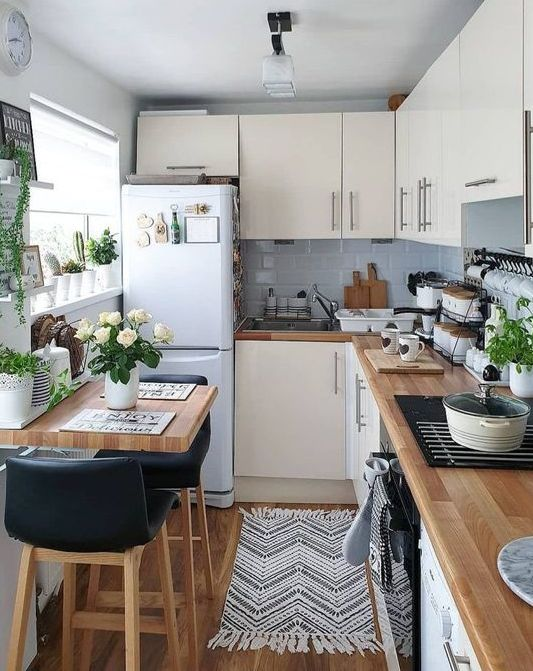 a cozy neutral kitchen design
