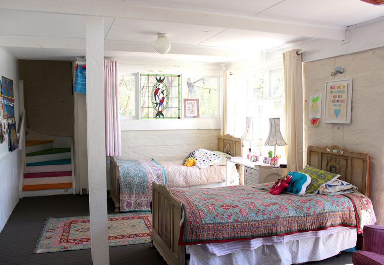 Good ... Decorate Even A Kids Room. Antique Matching Beds And Colorful Stairs  Make The Space Trully Special Part 15