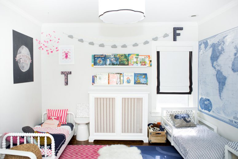 Ideal even a small shared kids room could look stylish when its decor is interesting