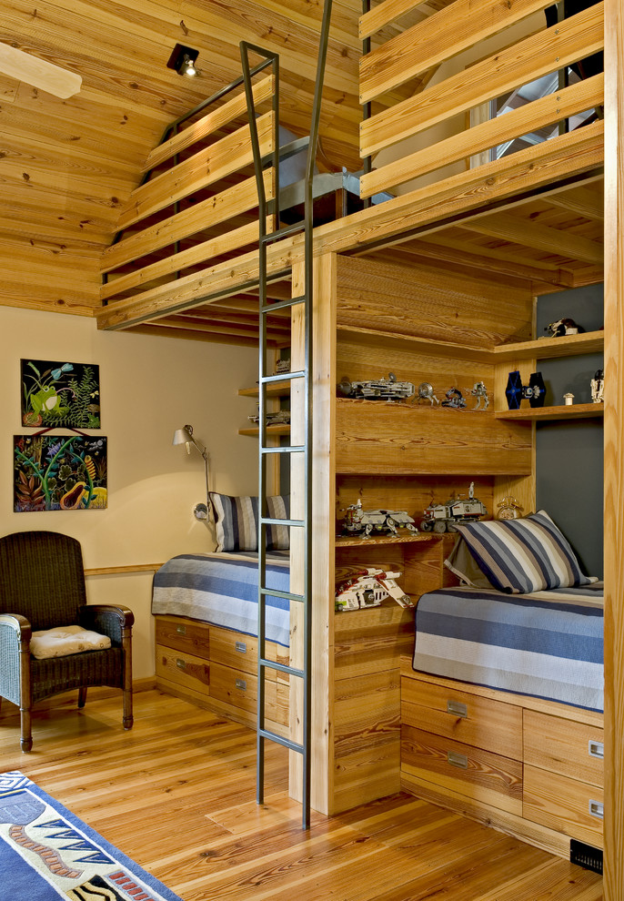 Inspirational loft space could be very useful in a boys bedroom