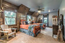 rustic wood wall might become an interesting way to decorate even a kids room