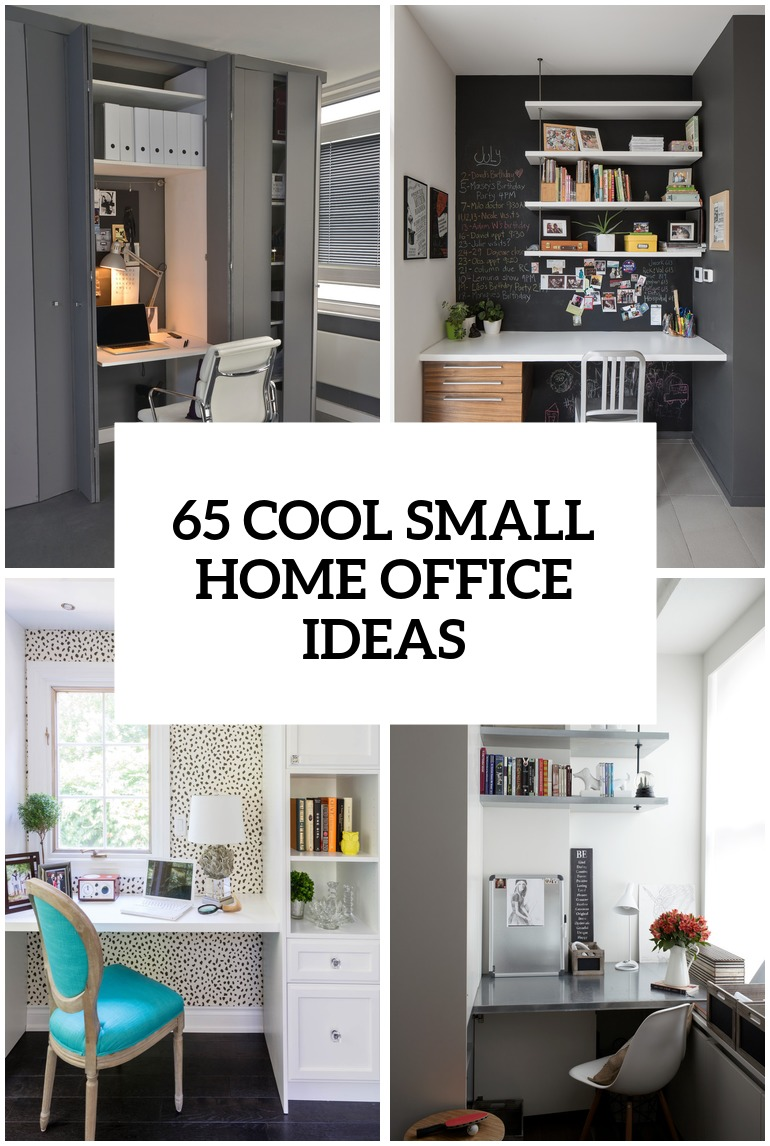 spacious room home offices designs ideas | 57 Cool Small Home Office Ideas - DigsDigs