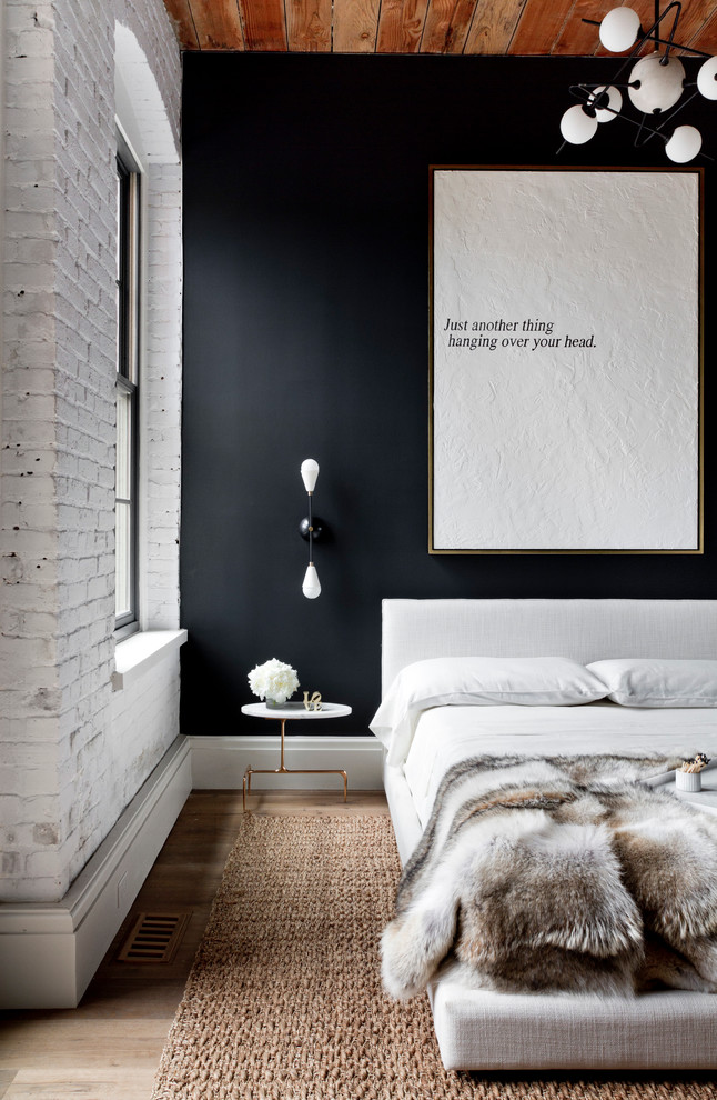 Mixing black and white works for any contemporary interior.