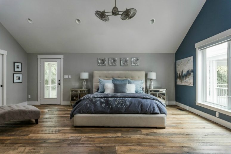 Awe Inspiring 47 Beautiful Blue And Gray Bedrooms Home Remodeling Inspirations Genioncuboardxyz