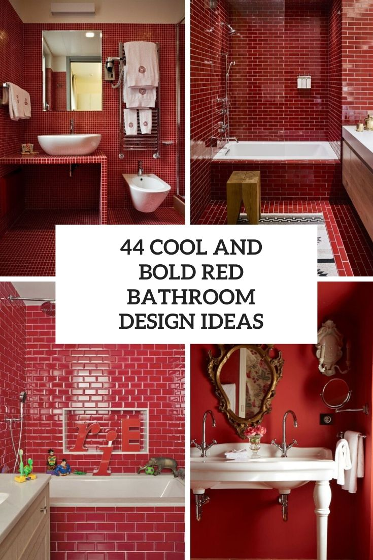 44 Cool And Bold Red Bathroom Design Ideas