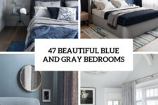 47 beautiful blue and gray bedrooms cover