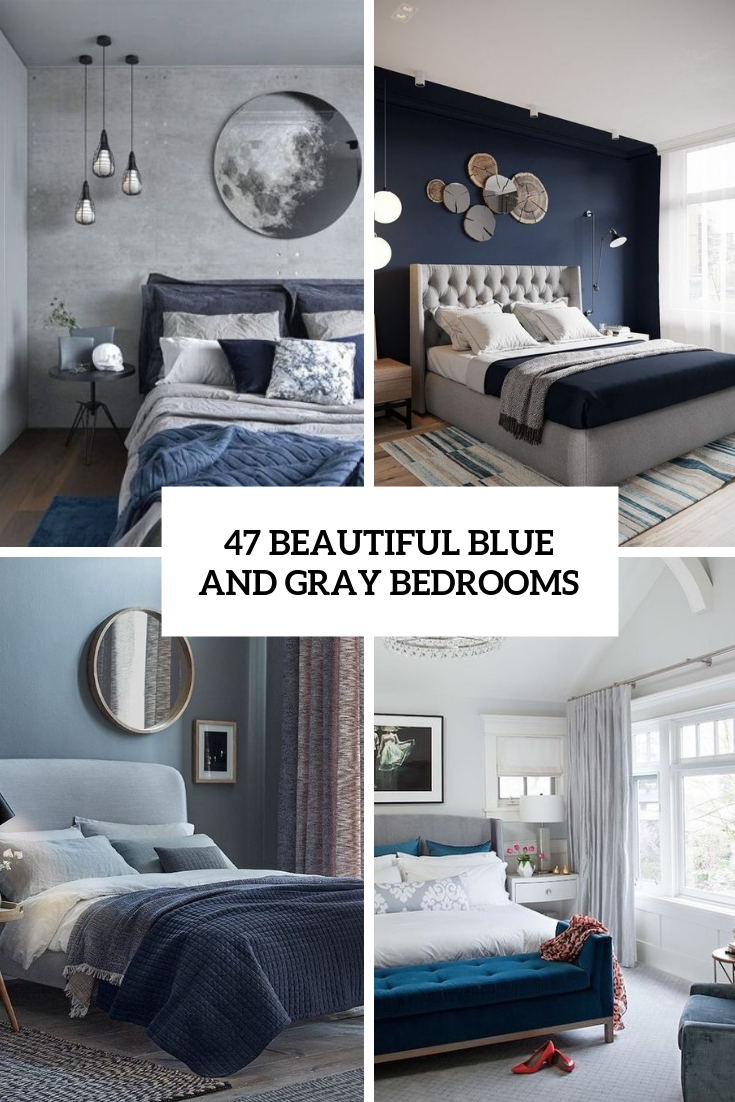 beautiful blue and gray bedrooms cover