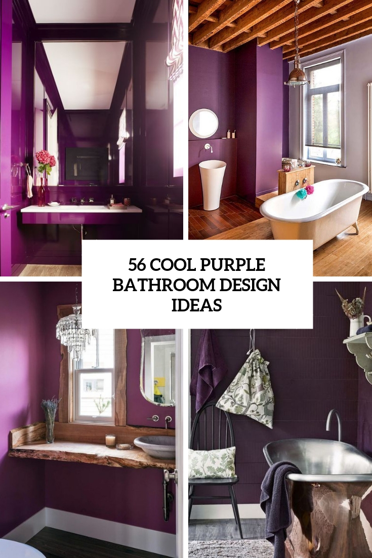 cool purple bathroom design ideas cover