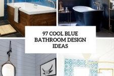 97 cool blue bathroom design ideas cover