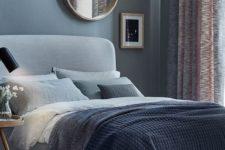 neutral blue bedroom design