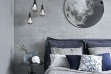a stylish grey bedroom design