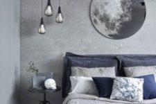 a stylish grey bedroom design