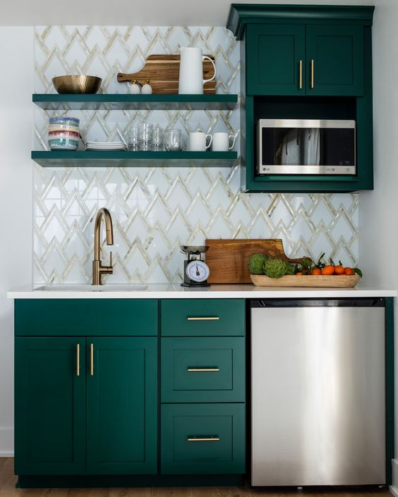 Kitchen Small Cabinet: 70 Creative Small Kitchen Design Ideas