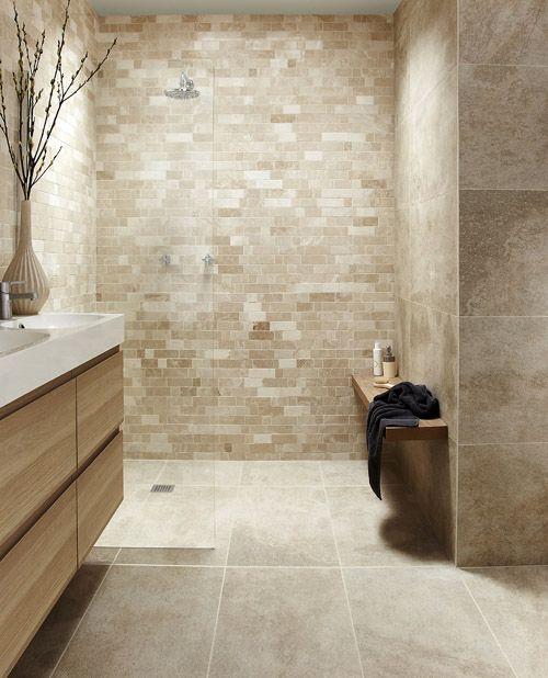 fabulous beige bathroom shower tile ideas | 61 Calm And Relaxing Beige Bathroom Design Ideas - DigsDigs