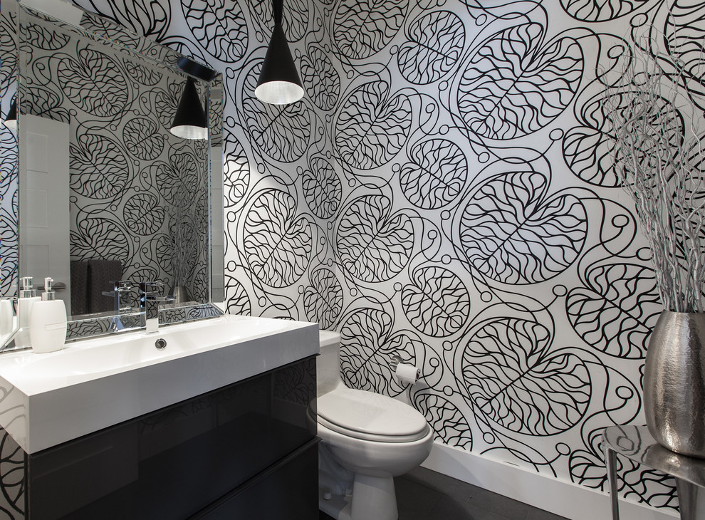 . 71 Cool Black And White Bathroom Design Ideas