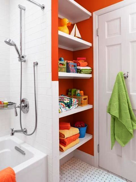 50 Cool Orange Bathroom Design Ideas - DigsDigs