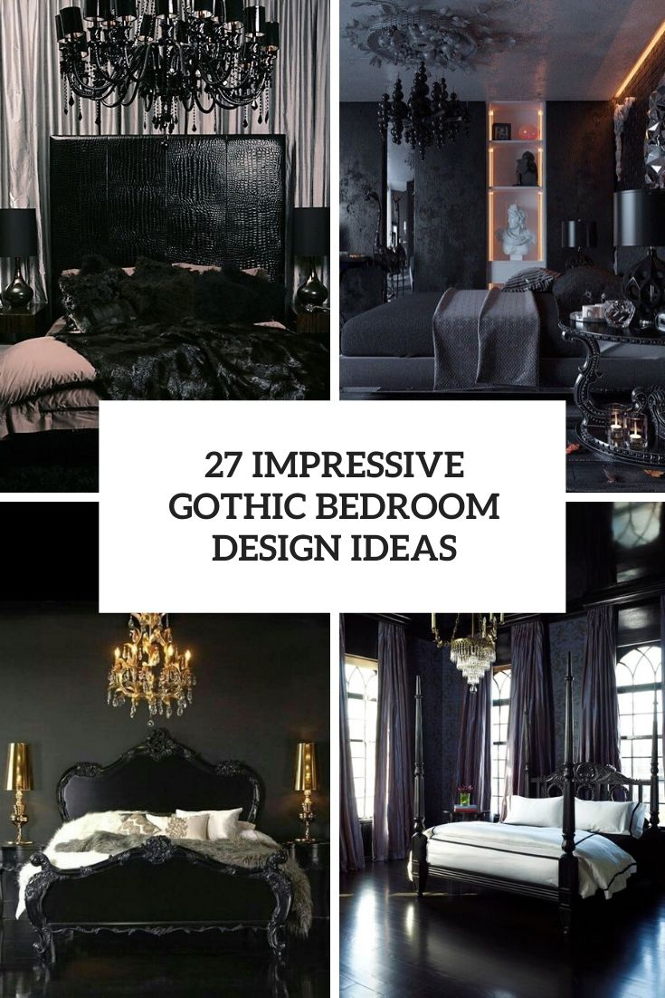 27 Impressive Gothic Bedroom Design Ideas Digsdigs