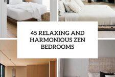45 relaxing and harmonious zen bedrooms cover