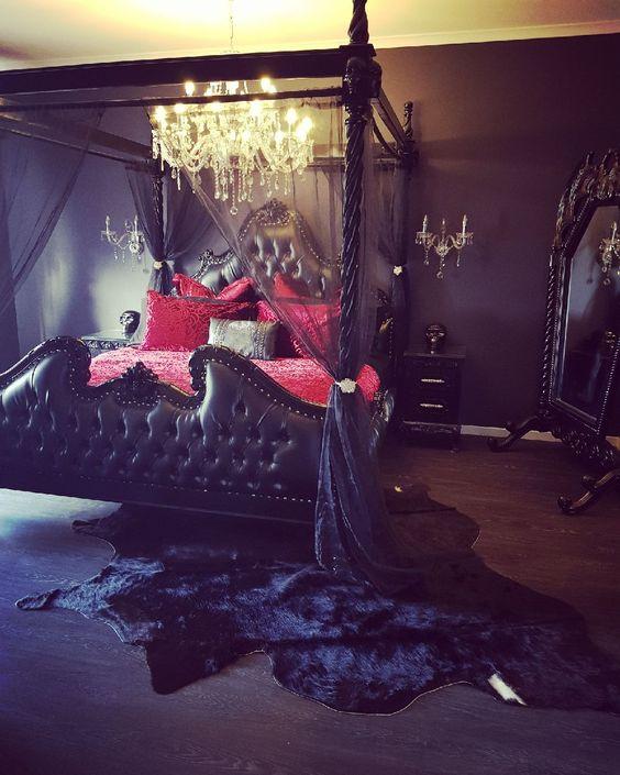 27 Impressive Gothic Bedroom Design Ideas Digsdigs