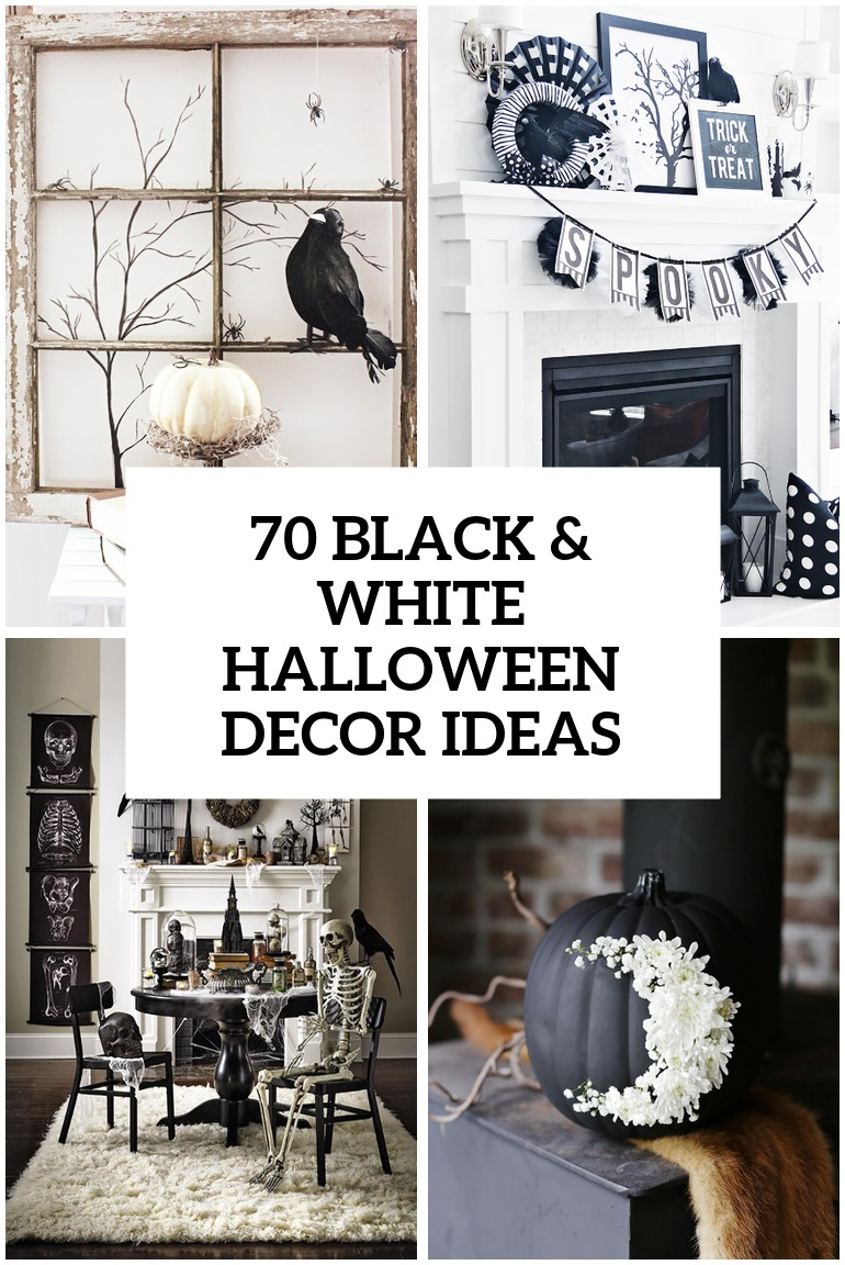 70 ideas for elegant black and white halloween decor - Black And White Halloween Party