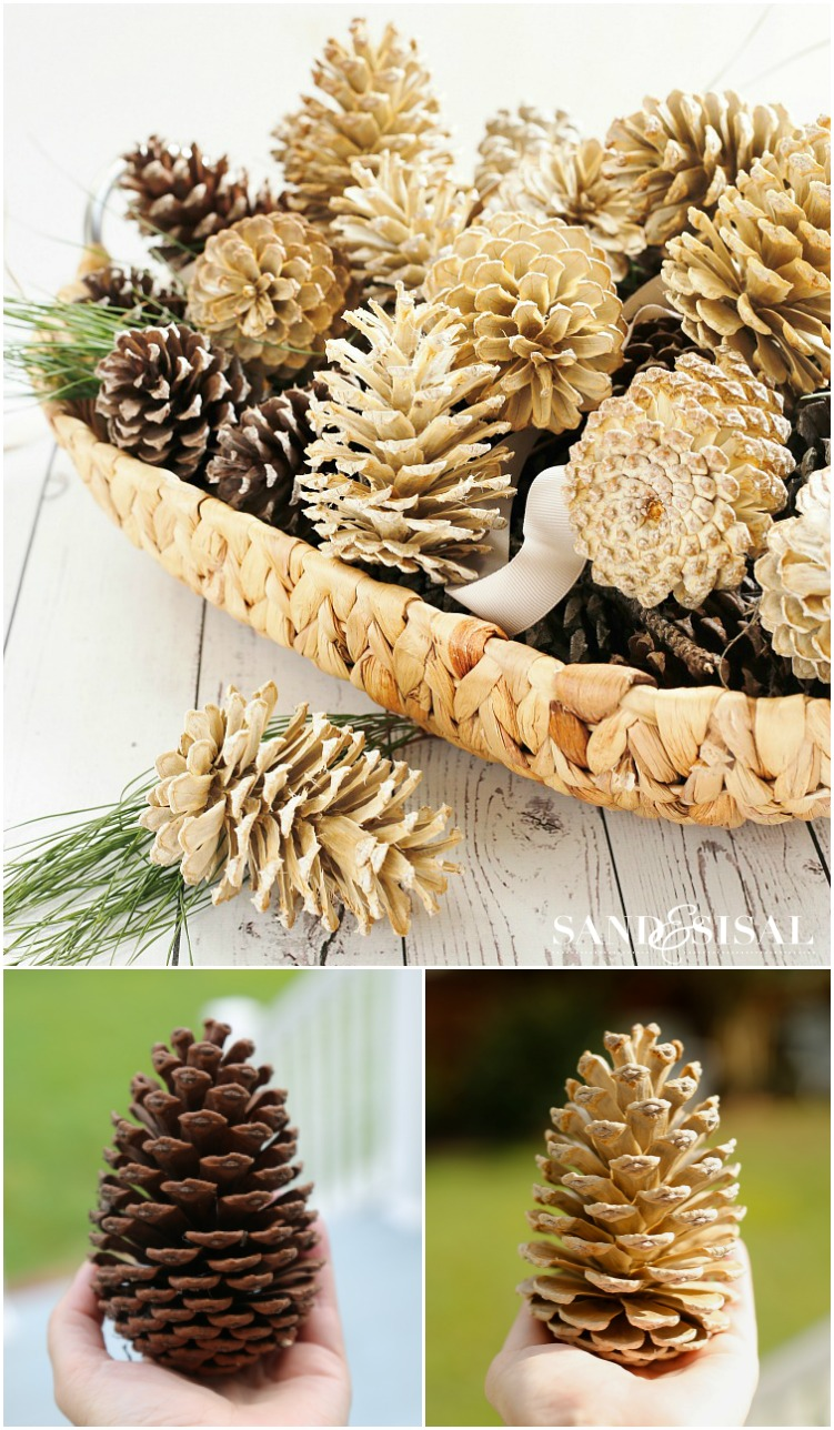 awesome outdoor and indoor pinecone decorations for christmas