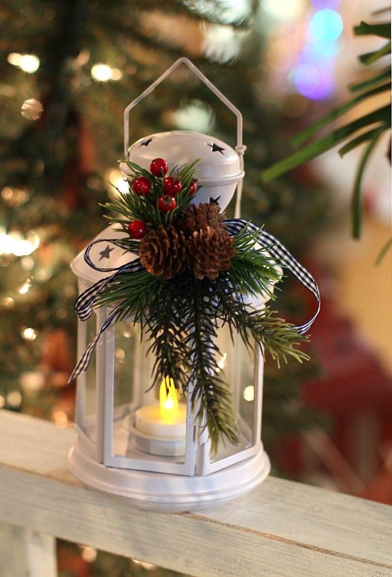 amazing christmas lanterns for indoors and outdoors - How To Decorate A Lantern For Christmas