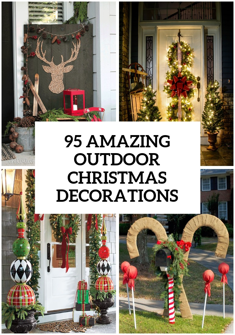 95 amazing outdoor christmas decorations digsdigs Pictures of houses decorated for christmas outside