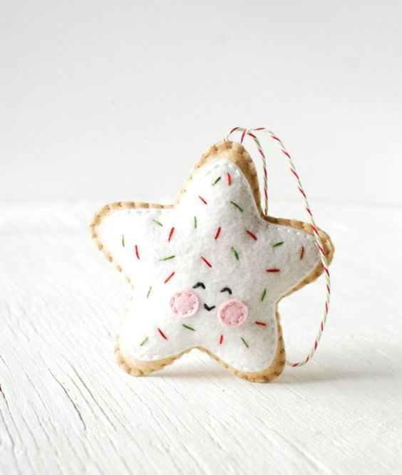 a pretty and whimsy Christmas star gingerbread cookie with frosting is a bold and fun idea to rock