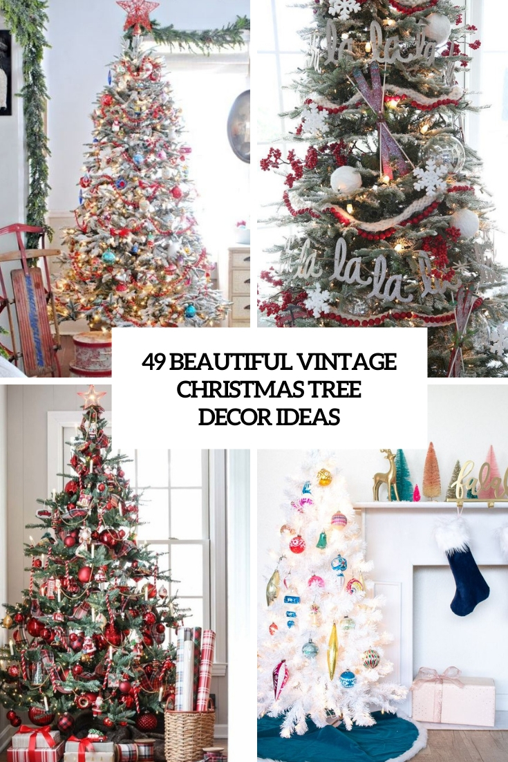 beautiful vintage christmas tree decor ideas cover