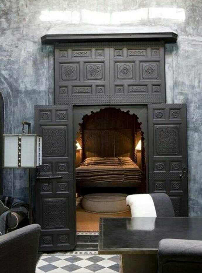 The whole bedroom could be hidden behind a secret door.