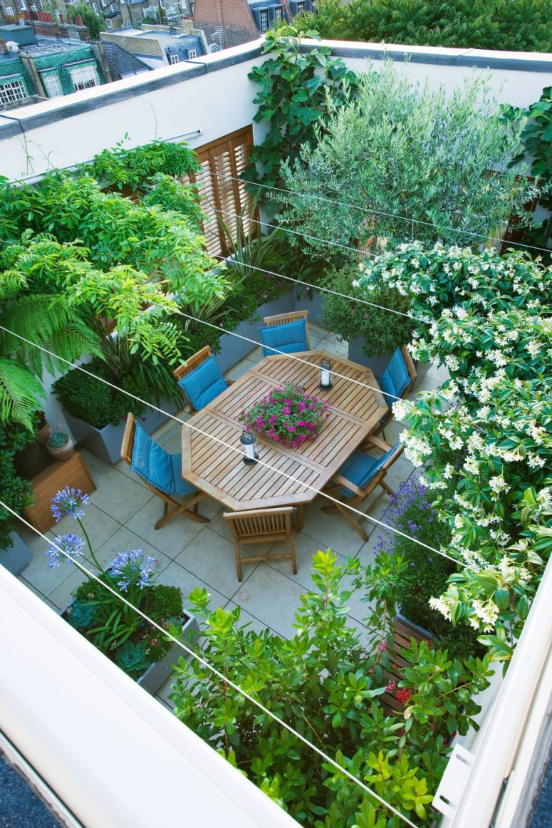 any rooftop terrace could become a small private garden