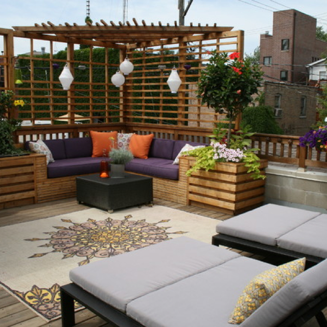Unique inspiring rooftop terrace design ideas