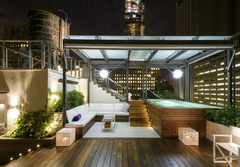 75 inspiring rooftop terrace design ideas digsdigs for Rooftop deck design ideas