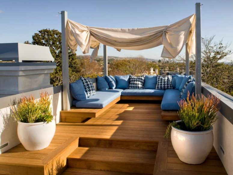75 inspiring rooftop terrace design ideas digsdigs for Terrace interior design ideas